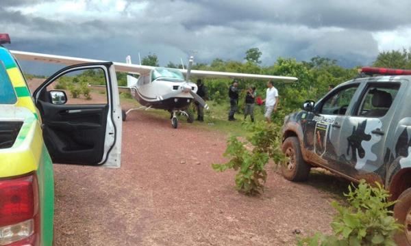 Polícia apreende avião com drogas e prende 2 em Barreiras do Piauí