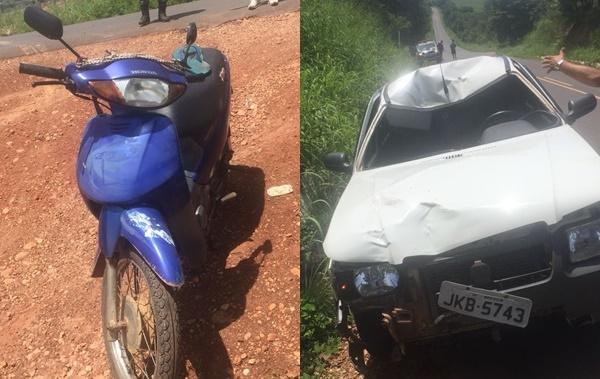 Acidente entre moto e carro deixa um homem morto na BR-135