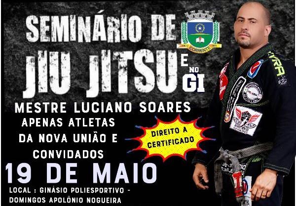 Corrente sedia Seminário de Jiu-Jitsu e Nogi com a presença do Mestre Luciano Soares