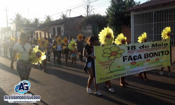 Município de Corrente realiza caminhada de combate ao Abuso sexual de crianças e adolescentes