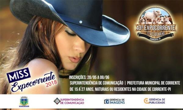 Inscrições do concurso Miss Expocorrente iniciam nesta segunda-feira (28)