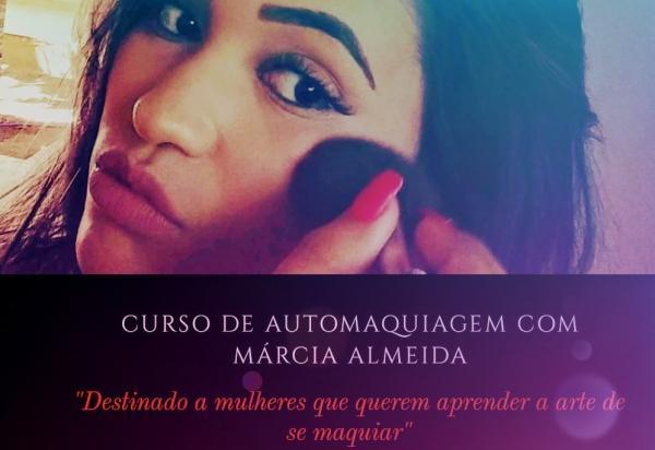 Márcia Almeida promove Curso de Automaquiagem dia 16 de junho em Corrente
