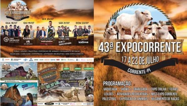 Confira cronograma completo de atividades que acontecem na 43ª ExpoCorrente