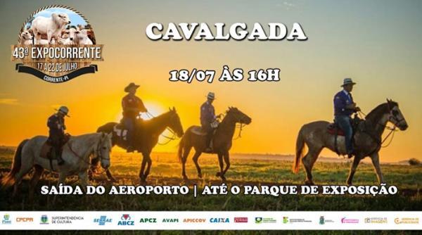 Tradicional cavalgada da 43ª ExpoCorrente será realizada nesta quarta-feira (18)