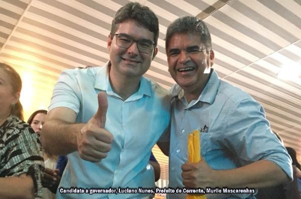 Prefeito Murilo Mascarenhas participa de convenção de Luciano Nunes em Teresina