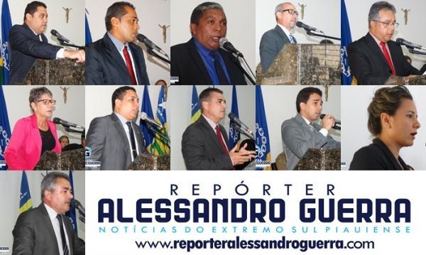 Veja o apoio politico de cada vereador de Corrente para deputados, senadores, governador e presidente