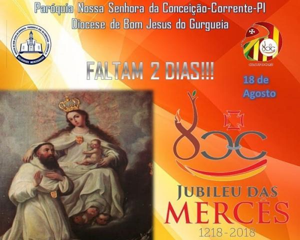 Paróquia Nossa Senhora da Conceição celebra jubileu de 800 anos da Ordem Mercedária
