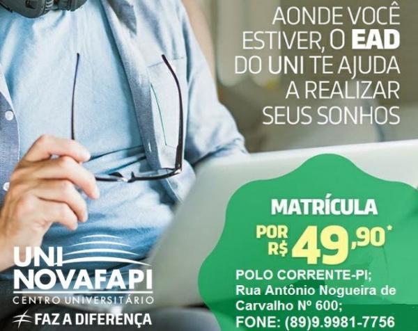 Corrente recebe polo do Centro Universitário UNINOVAFAPI com diversos cursos; Confira