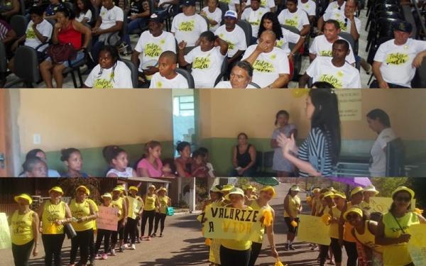 Corrente, Cristalândia e Sebastião Barros realizam a campanha 'Setembro Amarelo' de prevenção ao suicídio