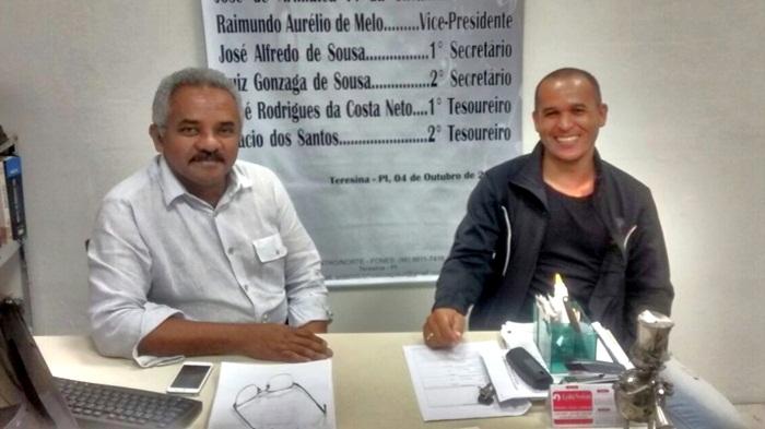 Músico de Corrente se encontra com o presidente Ordem dos Músicos do Brasil