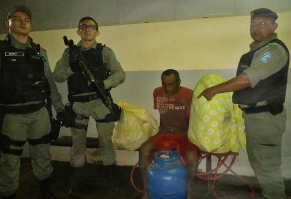 Homem é preso em flagrante após arrombar residência em Corrente