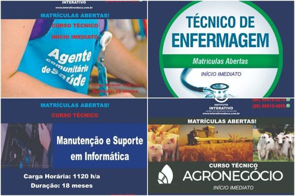 Instituto Interativo oferta quatro cursos técnicos em Corrente