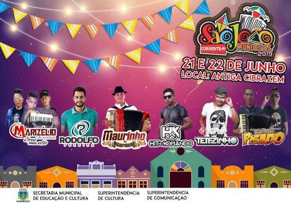 Prefeitura de Corrente promove o 7º Festival Junino Municipal