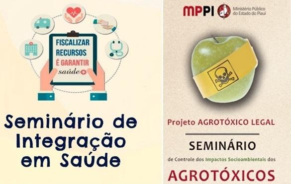 MP promove seminários sobre Integração em Saúde e controle de Agrotóxicos