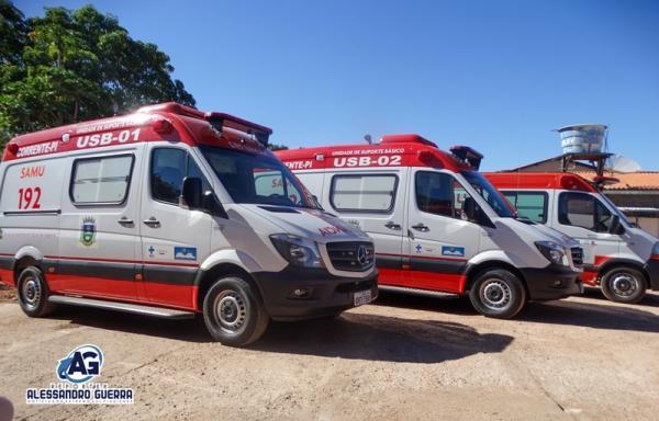 Prefeitura entrega novas ambulâncias e reforma da Base do Samu