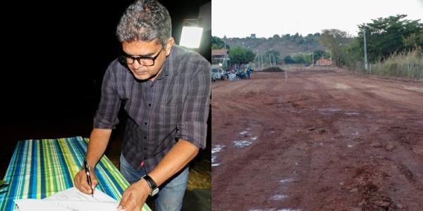 Prefeito assina ordens de serviço para obras de pavimentação e poços tubulares