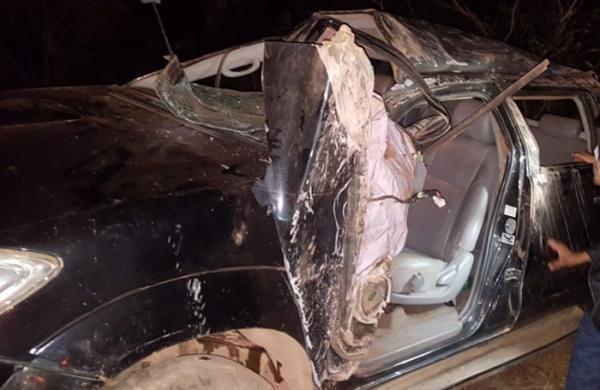 Empresário Puquinha perde controle de carro e sofre acidente na PI-411
