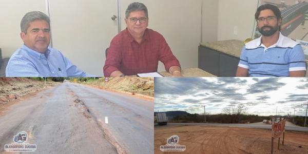 Prefeito vai ao DNIT cobrar obras no trecho urbano da BR-135 em Corrente