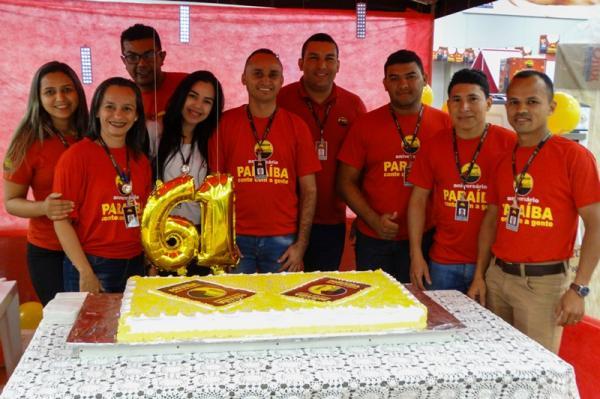 Paraíba comemora 61 anos de história com bolo e prêmios