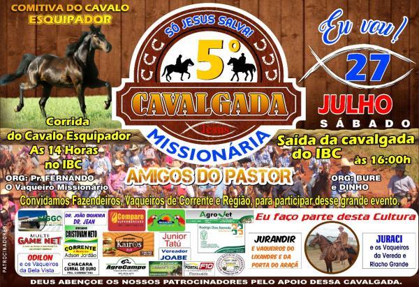 Pastor Fernando realiza a 5ª Cavalgada Missionária no sábado, 27