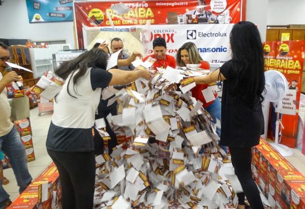 Armazém Paraíba realiza 5º sorteio de aniversário dos 61 anos