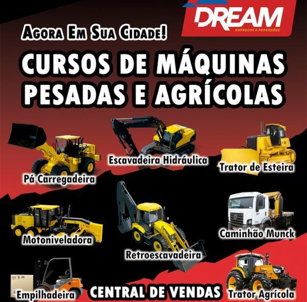 DREAM oferece cursos de máquinas pesadas e agrícolas em Corrente