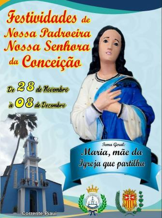 Paróquia Nossa Senhora da Conceição começa festejos religiosos em Corrente
