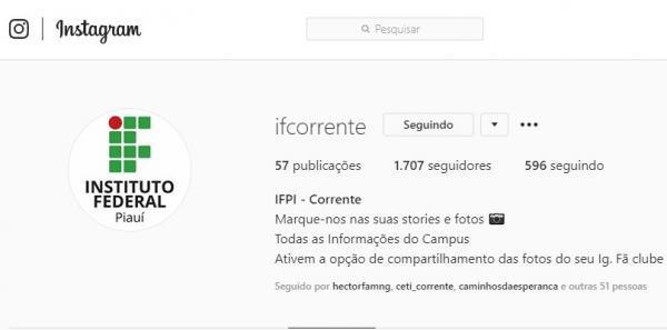 IFPI emite Nota Pública de Esclarecimento sobre Perfil falso no Instagram