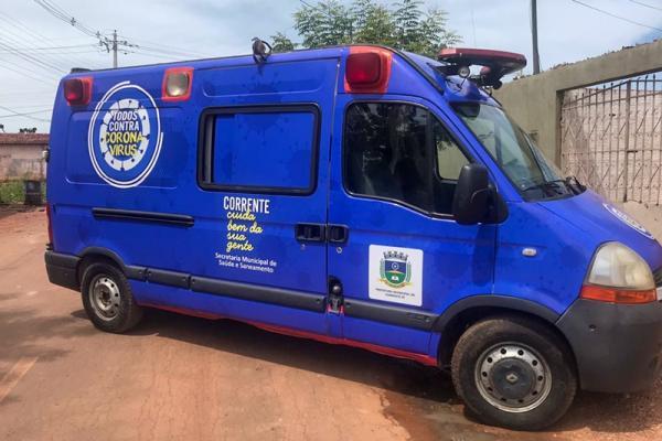 Corrente tem ambulância exclusiva para atender ações da Covid-19