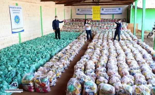 Projeto Social arrecada mais de 20 toneladas de alimentos para famílias em Cristalândia