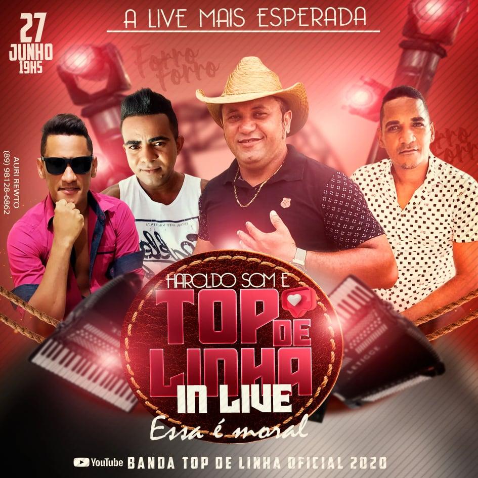 Banda Top de Linha apresenta live no Youtube no dia 27 de junho