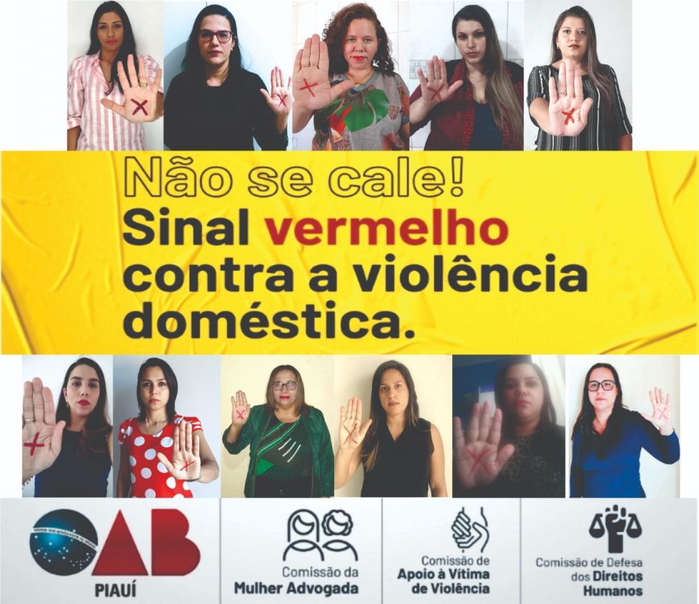 OAB Corrente apoia a campanha 'Sinal Vermelho para a Violência Contra a Mulher'