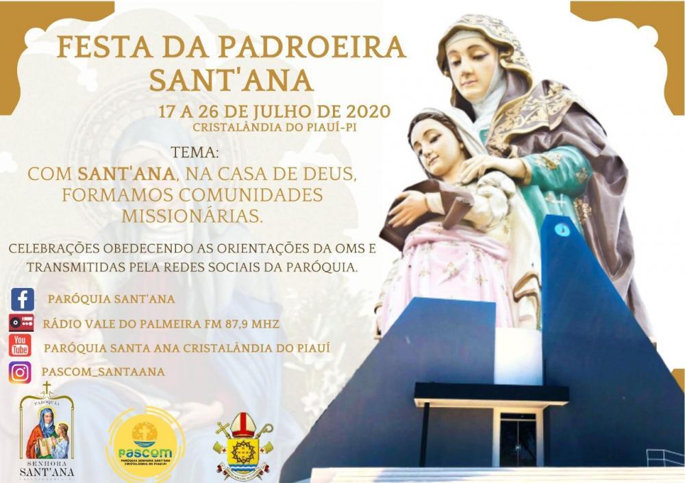 Cristalândia do Piauí terá festejo de Sant'Ana online