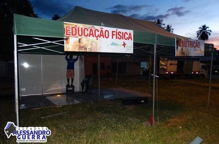 Mais Viver Piauí chega á Corrente, com serviços gratuitos de saúde