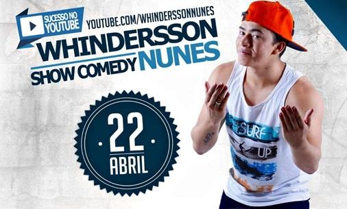 Whindersson Nunes apresenta stand up comedy nesta Sexta- feira (22), em Corrente