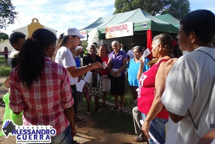 Mais Viver Piauí reúne uma multidão de pessoas em Corrente