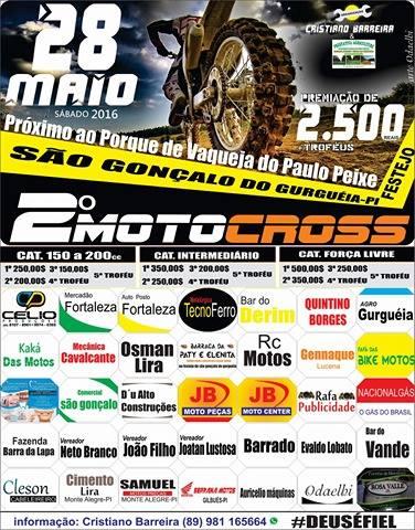 Segunda edição do Motocross de São Gonçalo do Gurguéia acontece sábado (28)