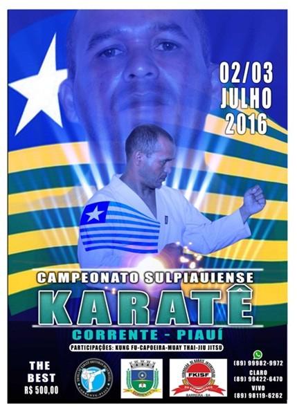 Final de semana acontece o campeonato Sul Piauiense de Karatê em Corrente