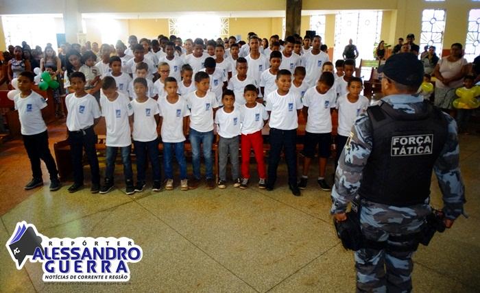 7º BPM realiza formatura de alunos do Pelotão Mirim