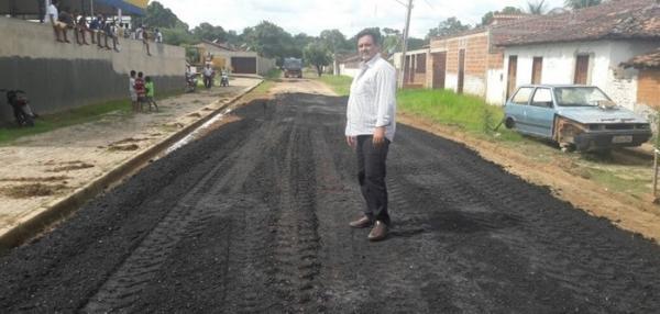 Prefeitura de Cristalândia inícia obras de pavimentação asfáltica