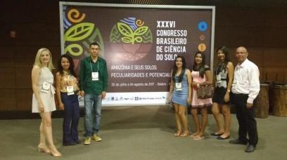 Professores e alunos da UESPI de Corrente participam de Congresso Brasileiro de Ciência do Solo